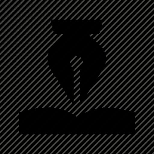 design, fountain, pen, tool, write, writing icon