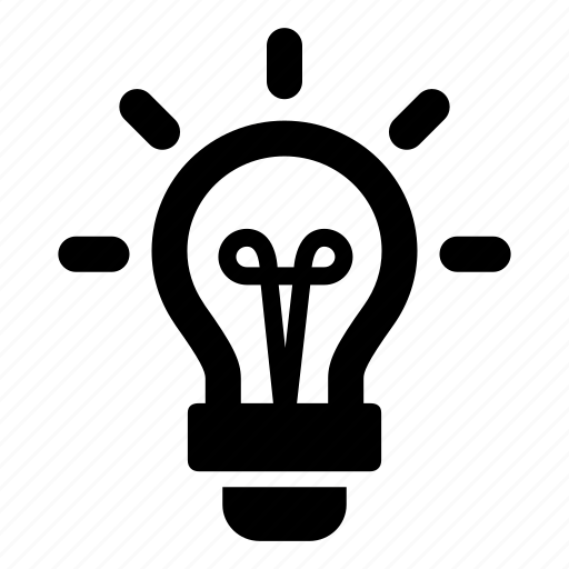 creative, light, lightbulb, sparks icon