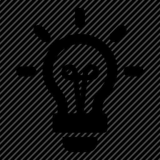creative, light, lightbulb, sparks icon