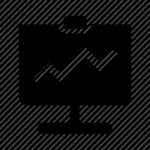 analytics, chart, charts, graph, statistics, whiteboard icon