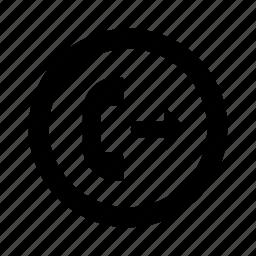 call, circle, outgoing, phone icon