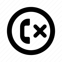 call, circle, phone, rejected icon