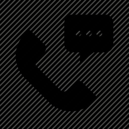 bubble, dots, message, phone, speech, talk icon