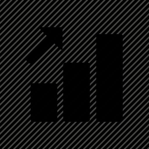 arrow, signal, up icon