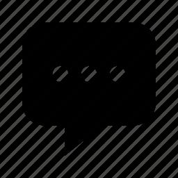 bubble, dots, message, speech, talk icon