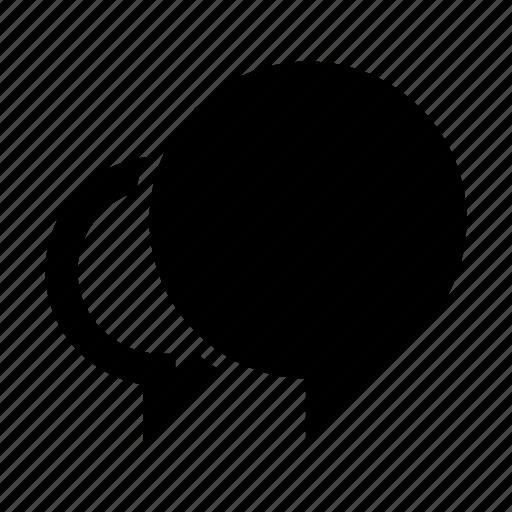 bubble, double, message, mixed, round, speech, talk icon