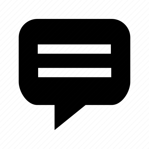 bubble, message, speech, talk, text icon
