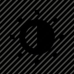 camera, contast icon