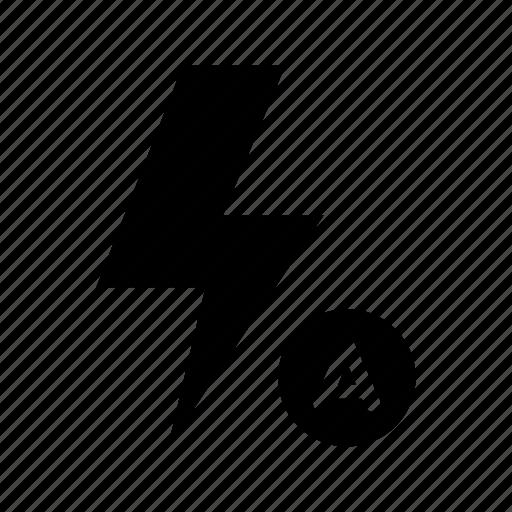 auto, camera, flash icon