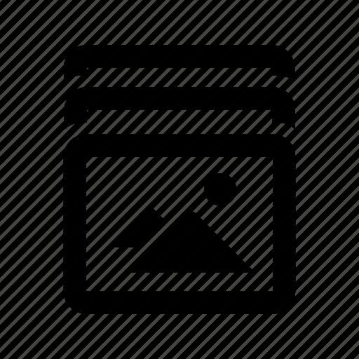 burst, camera, mode icon
