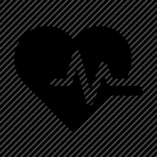health, healthcare, heart, medical, medicine, pulse icon