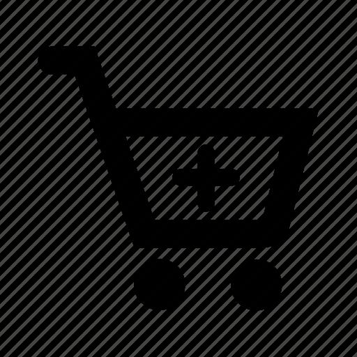 cart, ecommerce, plus, shopping icon