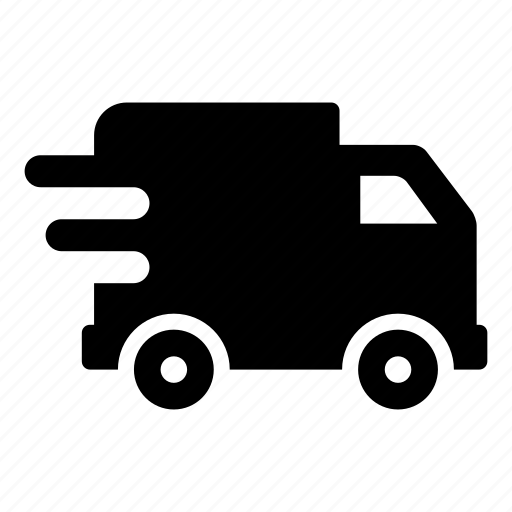 delivery, fast, shipping, speed, transport, truck, vehicle icon
