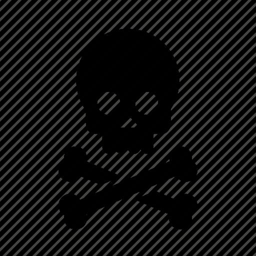 bones, danger, hazard, skull icon