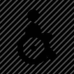 handicaped, man, person, user icon