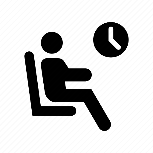 man, person, room, user, waiting icon
