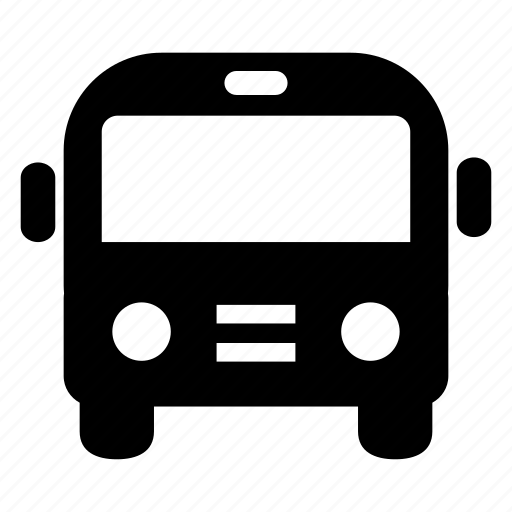 bus, front, transport, transportation, travel, vehicle icon