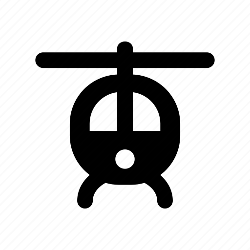 front, helicopter, transport, transportation, travel, vehicle icon