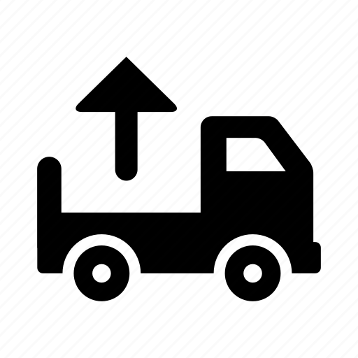 delivery, ecommerce, shipping, shopping, transport, transportation, truck, unload, vehicle icon