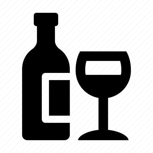 alcohol, and, beverage, bottle, drink, drinks, glass, wine icon