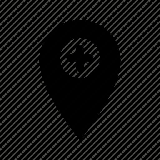 add, gps, location, map, marker, pin, plus icon