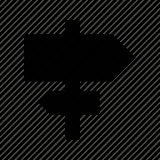 arrow, arrows, direction, signs, wayfinder icon