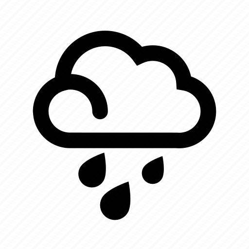 cloud, clouds, drops, forecast, mixed, rain, weather icon