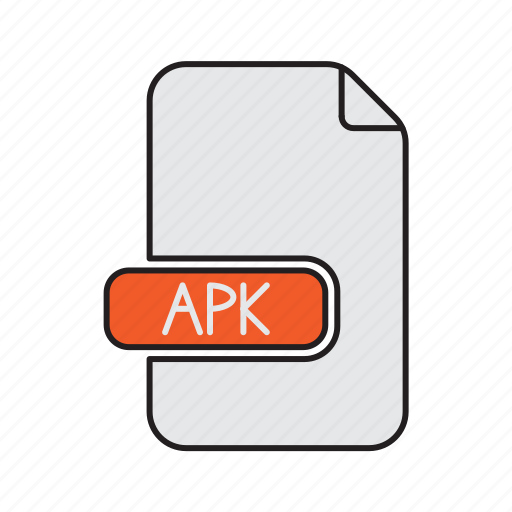 android, apk, extension, file, type icon