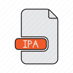 apple, extension, file, ipa, package, type icon