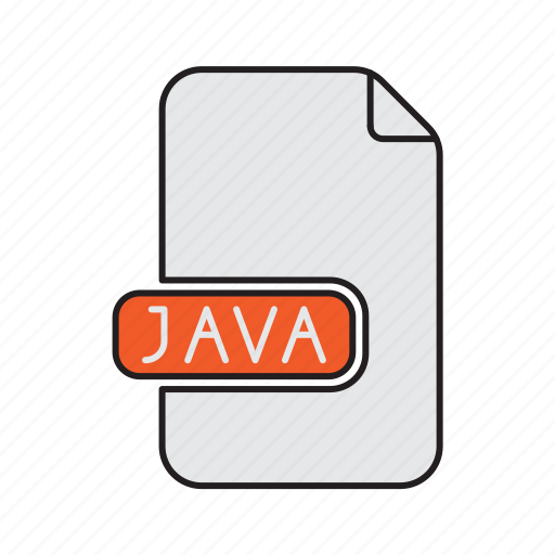 extension, file, java, programming, type icon