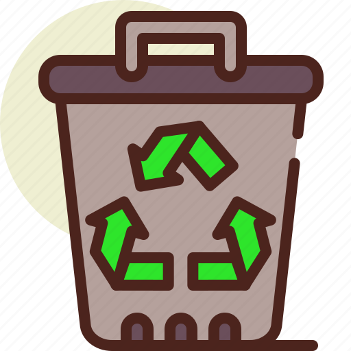 bin, bio, ecology, pollution, recycle icon