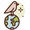 bio, birds, ecology, pollution, recycle icon