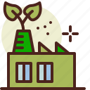 bio, ecology, fabric, green, pollution, recycle icon