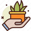 green, ecology, pollution, bio, hold, recycle icon