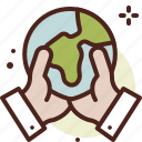 bio, earth, ecology, holding, pollution, recycle icon