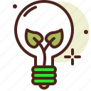 bio, ecology, light, pollution, recycle icon