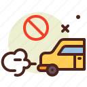 bio, car, ecology, no, pollution, recycle icon