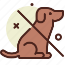 bio, dog, ecology, no, pollution, recycle icon