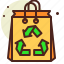 bag, bio, ecology, paper, pollution, recycle icon