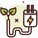 bio, ecology, plug, pollution, recycle icon