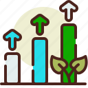 bio, ecology, pollution, raise, recycle icon
