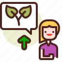 bio, ecology, pollution, recycle, speaker icon