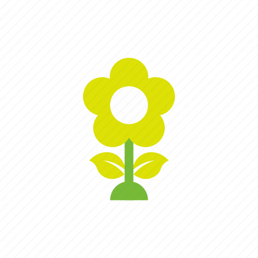 building, flower, green icon