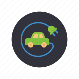 electric car, energy, gogreen, nature, no emision, transportation icon