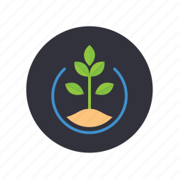 dirt, gogreen, grow, leaves, nature, plant, tree icon