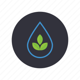 clean water, gogreen, leaves, nature, plant, save the water, water drop icon