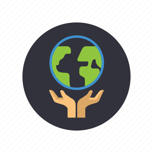 earth, ecosystem, gogreen, green planet, hands, planet, save the earth icon