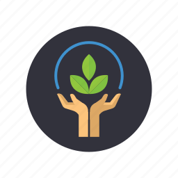 gogreen, hand, nature, plant, save, save the plant, tree icon