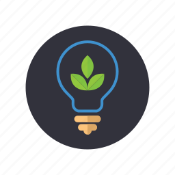gogreen, green idea, idea, leaves, lightbulb, plant, tree icon