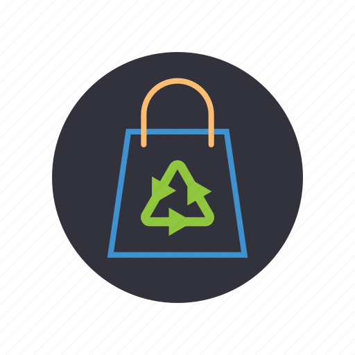 biodegradable, gogreen, nature, recycle, shopping bag icon